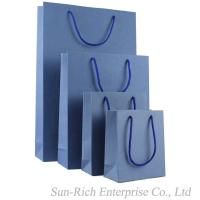 Wholesale Purple color paper Shopping bag gift box for sale