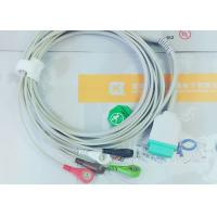 Quality Gray Color GE One Piece Ecg Patient Cable For Patient Monitoring Devices wholesale