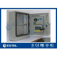 Quality Single Wall Stainless Steel Outdoor Telecom Cabinet With Cooling System / Air Conditioner Type Telecom Enclosure wholesale