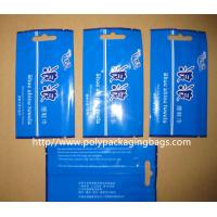 Quality Middle Sealed Plastic Bag Disposable Wet Wipes Packaging , Blue / Green wholesale