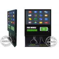 Best 21.5inch Wifi Mobile Charging Cable inbuilt Advertising Screen, Android Remote Control Media Player Charging Station wholesale