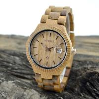 Quality Natural Eco Friendly Classic Men Watches , Mens Waterproof Watches With Wooden Strap wholesale