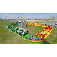 Buy cheap Durable PVC Tarpaulin Running Race Giant Inflatable 5k Obstacle Course For Event from wholesalers