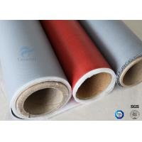 Buy cheap Chemical Resistant Alkali Free Satin Weave 590g Silicone Coated Fiberglass Fabric from wholesalers