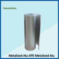 Double  sided aluminum foil backed  XPE insulation,BLUE fire proof XPE insulation