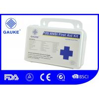 Indoor OSHA ANSI First Aid Kit For Business Wall Mountable Small PP Case