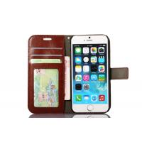 Quality Colorful Iphone 6s Leather Wallet Case 4.7 Inch Handmade Magnet Side - Open wholesale
