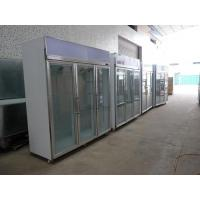 Quality Stainless Steel Upright Commercial Display Freezer -25°C With Vertical Light wholesale