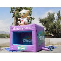 Quality Portable Purple Square Kiosks With Digital Printing , Advertising Inflatables wholesale