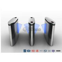 Quality IP54 Anti - Breakthrough Flap Turnstile Speed Automatic Gates Barcode System With Bule Light wholesale