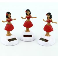Best Solar Powered Dancing Hula Girl-Red  Suit  (Colors Vary)  car dashboard toy wholesale