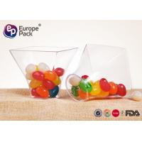 Disposable Dessert Glasses Square And Round Shape 2.5Oz Plastic Cup 75Ml Container
