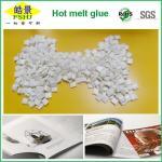 Quality EVA Milk White Hot Melt Glue Pellets High Soften Point Adhesive Hot Melt For Bookbinding wholesale