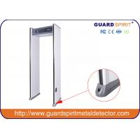 High Sensitivity 6 Zones Walk Through Metal Detector Frame With LED Light , Gun Metal Detector
