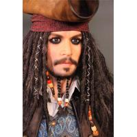Best Hollywood Silicone Celebrity Wax Figures Life Size Jack Sparrow Statue Wax Figures wholesale