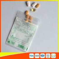 Quality Tablet Drug Packaging Ziplock Pill Bags , Medicine Plastic Bag With Zip Seal wholesale