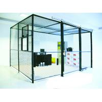 Heavy Duty Two Sides Industrial Storage Cage , Wire Mesh Storage Lockers Full Height
