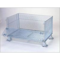 "Super Wide Collapsible Wire Container Storage Cages 60""X44""X40"" 3000 Pounds Capacity"