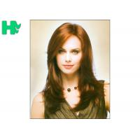 Quality Natural Wave Medium Length Synthetic Hair Wigs For Elegance White Women wholesale