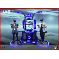 Quality VART double seaters VR interative simulator for entertainment park with intensely joyful games wholesale