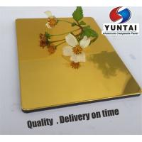 Mirror surface Aluminum Composite Panel Gold,silver,tan color interior designing best Decorative material from China