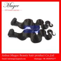 Double Drawn Unprocessed remy malaysian body wave hair weft,hair weave no shedding