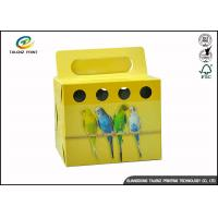 Quality Colorful Printing Cardboard Gift Boxes Foldable Space Saving For Birds wholesale