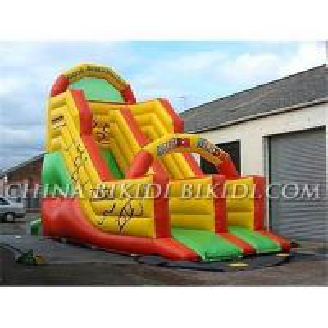 Inflatable wet &dry slide