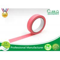 Quality Office Labeling Adhesive Stickers Easy Tear Decorative Craft Tape Pink / Purple / Red wholesale