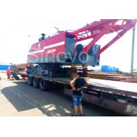 Buy cheap Red Color Low Ground Pressure Hydraulic Crawler Mounted Crane For Chemical Industry from wholesalers