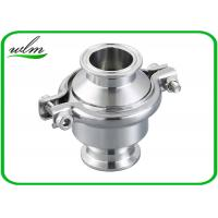 Portable Clip - On Sanitary Check Valve With Clamp Connection End , Finely Finished Surface