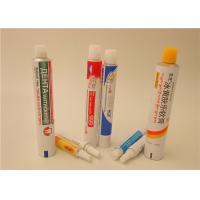 Quality  Cream Ointment Gel Aluminum Squeeze Tubes With Full Printing , Aluminum Pharma Tube wholesale