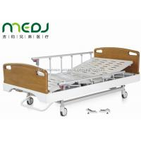 Quality Critical Care Manual Hospital Bed , Wood Foldable Hospital Bed With Central Brakes wholesale