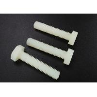 Quality M5 X 10 Plastic Nylon Hex Head Screws PA 66 UL 94V-2 Flat Point For Car Industry wholesale