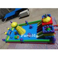 Best 0.55 MM PVC Tarpaulin Double Stitching Inflatable Fun City With En 14960 For Kids wholesale