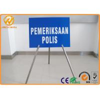 Portable Foldable Traffic Warning Signs with Tripod Stand Galvanized Tube Diameter 1