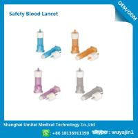 Quality Pressure Activated Disposable Blood Lancets For Diabetes OEM / ODM Available wholesale