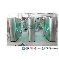 Quality Underground Entrance Flap Barrier Gate Optical Turnstile ESD System DC 24V Brush wholesale