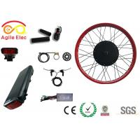 Quality High Power Fat Tire Ebike Conversion Kit , Black Diy Electric Bike Kit wholesale