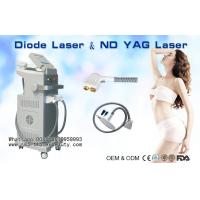 Buy cheap 808nm Diode Laser Hair Removal Machine / 1064nm ND YAG Laser Tattoo Removal from wholesalers