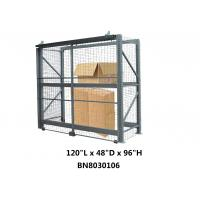 Heavy Duty Steel Pallet Rack Security Cage Systems 10'*4' *8' High Sliding Door Type