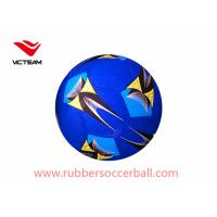 Quality Machine Stitched Rubber Size 5 Soccer Ball / Blue Footballs for children play games wholesale