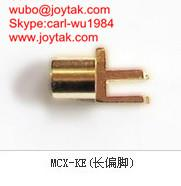 High quality gold plated MCX jack streight PCB mount type coaxial connector MCX-KEL