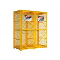 """72"""" Mesh Lpg Cylinder Storage Cabinet 65"""" Tall Safety Cages For Gas Bottles"""