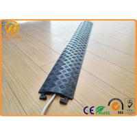 Best Yellow Floor Cord Protector Cover Ramp 1 Channel PE Rubber Floor Cable Cover For Indoor wholesale