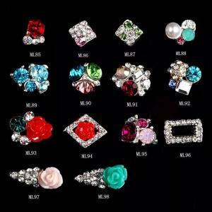 Flower Ice Cream 3D Nail Art Sticker Glitter Rhinestones Decoration jewelry ML85-98
