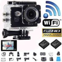"New Style W9 WIFI Action Camera 2.0""LCD Full HD 1080P Camcorder CMOS Diving 30M Sports DV"