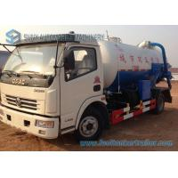 Buy cheap Dongfeng Q235 Carbon Steel Tank Sewage Suction Tanker Truck 4X2 from wholesalers
