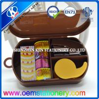 Quality Case Packing Plastic Mini Office Stationery Set Sticky Memo and Tapes silk screen printing wholesale