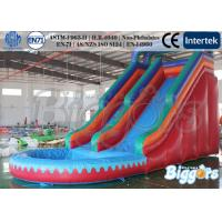 Quality Amusement Simple Kids Inflatable Slide With Pool / Climbing Games wholesale